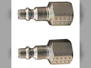 """Milton Air Tool Plug - Female M-Style 3/8"""" FNTP 2pk"""