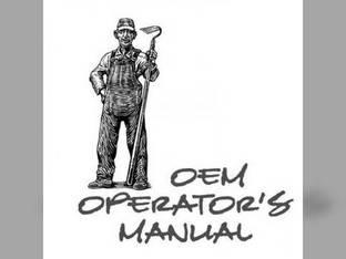 Operator's Manual - M4700 Kubota M4700
