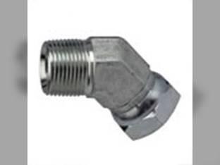 "Hydraulic Adapter Union 45° 3/8"" Male 3/8"" Female Swivel"