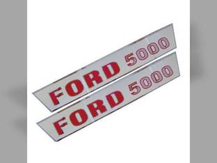 Tractor Decal Set Hood Only Ford 5000