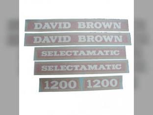 David Brown Decal Set Case 1200