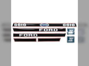 6610 Decal Set Hood Only Black/Red Ford 6610