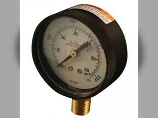 "Milton Air Tool Pressure Gauge - Bottom Mount 1/4"" NPT 0-60 PSI"