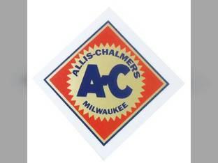 "Decal 2-1/2"" Diamond w/Orange Background Mylar Allis Chalmers 175 D17 5050 5040 IB D12 D14 7010 WF RC 160 200 D19 220 B D21 190 180 210 D15 WC WD 5030 185 7045 7050 CA 7020 170 D10 WD45 C G"