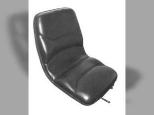 Seat - Contoured High Back Black Vinyl Bobcat T190 Allis Chalmers 7020 175 7040 185 7060 7045 7050 7000 7080 7010 190 180 200 Cub Cadet Ford 550 655 555 Case 580B 580 Gleaner L2 Case IH 5250 5220