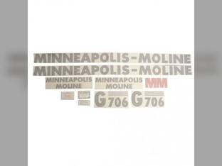 Tractor Decal Set G706 Vinyl Minneapolis Moline G706