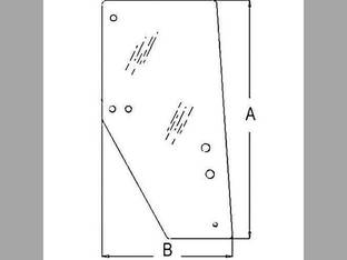 Cab Glass - Door RH Kubota M105 M110 M120 M125 M125X M105X 3F260-53050