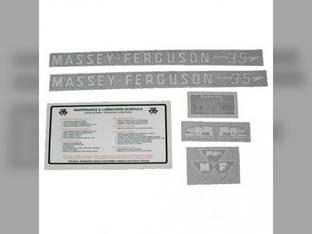 Tractor Decal Set 35 Gas Vinyl Massey Ferguson 35