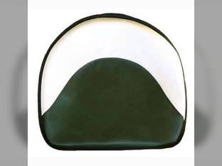 "Pan Seat 21"" Deluxe Cushion Vinyl White & Green Oliver Super 99 Super 66 Super 77 70 Super 44 995 77 66 770 80 440 660 90 880 550 88 Super 55 950 990 John Deere D GW 1010 A H 45 G B 1020 2020 L 2030"