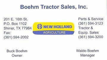 Boehm Tractor Sales