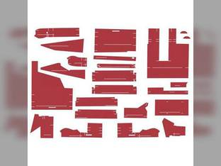 Cab Foam Kit less Headliner Red Material Series III White 2-180 2-110 145 140 160 170 2-135 100 125 185 120 2-155 2-88 195