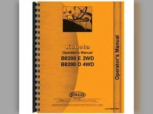 Operator's Manual - KU-O-B8200 SER Kubota B8200 B8200 B8200