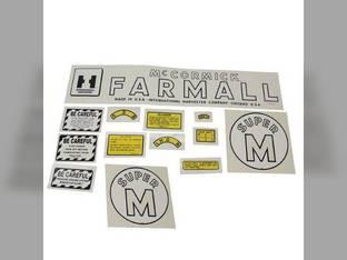 Mylar Decal Set - Farmall & Super M International Super M