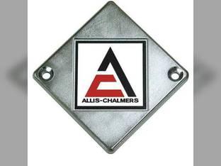 Emblem A/C Logo on Chrome Diamond Allis Chalmers D10 D19 ED40 D14 D12 D21 D15 D17 70246724 Gleaner E3 A2 C E F K 70246724