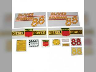 Tractor Decal Set 88 Standard Diesel Yellow Mylar Oliver 88