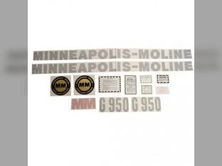 Tractor Decal Set G950 Vinyl Minneapolis Moline G950