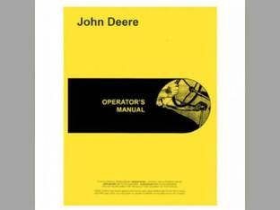 Operator's Manual - JD-O-OMT18596 John Deere 2010 2010