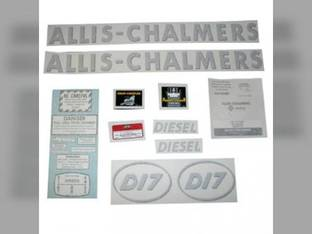 Decal Set D17 Diesel w/Oval Model Letters Vinyl Allis Chalmers D17