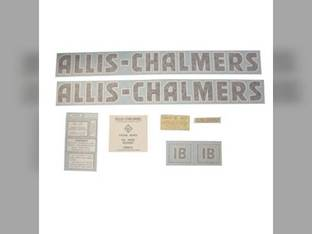Decal Set IB Black Even Letters Vinyl Allis Chalmers IB