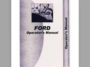 Operator's Manual - FO-O-6000 Ford 6000 6000