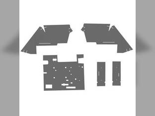 Cab Foam Kit less Headliner Gray/Black Basket Weave Case 1394 1594 1494 David Brown 1494 1594 1394