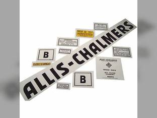 Decal Set B Black Even Letters Mylar Allis Chalmers B