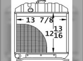 Radiator Kubota L245 15201-72060