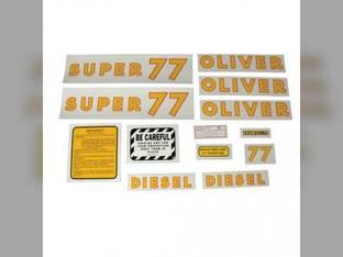 Tractor Decal Set Super 77 Diesel Mylar Oliver Super 77