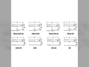 Rotary Cutter Blade Flat Reversible John Deere 1408 1418 1008 W28163