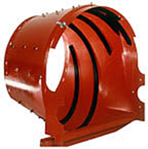 "Rotor Transition Cone With 1/8"" Vanes - 3/16"" Wall Thickness"