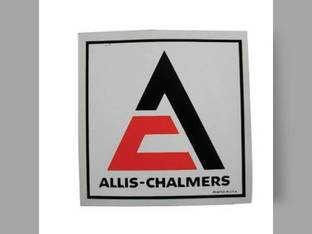 "Decal Triangle 4-1/2"" x 4-1/2"" Black & Orange w/White Background Mylar Allis Chalmers D15 D17 175 B 185 D12 WC RC D21 160 WD 170 D10 WD45 D19 180 200 190 D14 220 CA WF 210 G"