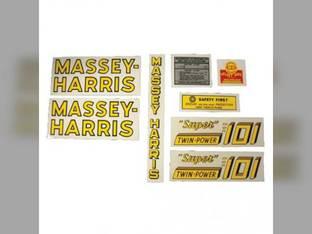 Tractor Decal Set 101 Super Twin Power Mylar Massey Harris 101