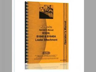 Operator's Manual - B1630 B1640 B1640A B6200HST-E Kubota B1640A B6200 B6200 B1630 B1640