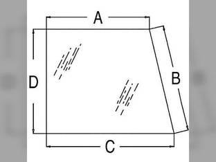 Cab Glass - Rear Side Window RH or LH Allis Chalmers 200 220 210 70573642