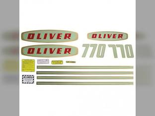 Tractor Decal Set 770 Early Mylar Oliver 770