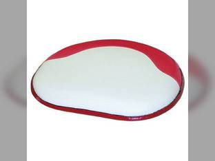 Seat Cushion Vinyl White with Red Trim International 660 560 460