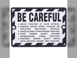"""Be Careful"" Plate For 1948 To 1958 Tractors John Deere 70 520 G 50 820 B 80 60 A 720 620 R"