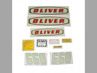 Tractor Decal Set 660 Early Mylar Oliver 660