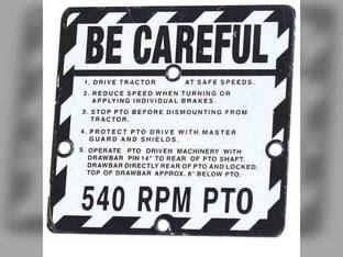 """Be Careful"" Plate John Deere 830 430 M 520 330 40 50 420 320 60 730 720 440 620 630 530 R4474"