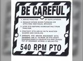 """Be Careful"" Plate John Deere 830 430 520 M 330 40 630 50 320 730 60 620 420 720 530 440 R4474"