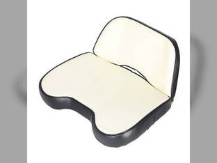 Seat Assembly Vinyl White/Black Allis Chalmers D15 7030 D17 175 190XT 185 D12 D21 170 D10 D19 180 200 190 D14 7050 220