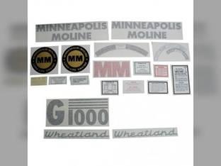 Tractor Decal Set G1000 Wheatland Vinyl Minneapolis Moline G1000