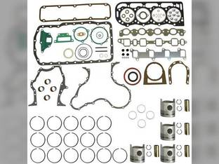 Engine Rebuild Kit - Less Bearings - Standard Pistons Ford 268 6700 6610 6710 6600 BSD444