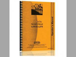 Operator's Manual - KU-O-L235 L275 Kubota L235 L275