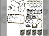 """Engine Rebuild Kit - Less Bearings - .040"""" Oversize Pistons Ford 268T BSD444T 755 755A 755B 7600 7700 7610 7710 A62"""