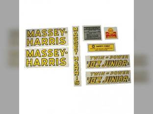 Tractor Decal Set 102 Junior Twin Power Mylar Massey Harris 102