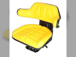 Seat Assembly Grammer Style Vinyl Yellow John Deere 2020 830 2755 2350 2750 2440 2550 2040 2355 2030 2640 1020 Ford 5610 6610 2000 4000 4110 Massey Ferguson 165 135 50 50 40 40 FIAT Massey Harris