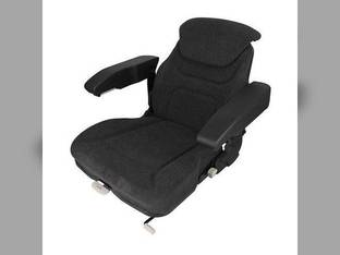Seat Assembly Swivel Armrests Fabric Gray Case IH 7150 9230 7110 9180 9390 9150 9240 9210 9110 7240 9380 7220 8910 7230 9130 7140 9270 8920 8940 9310 9330 8930 7120 7130 9170 9370 7210 9260 9250 9280