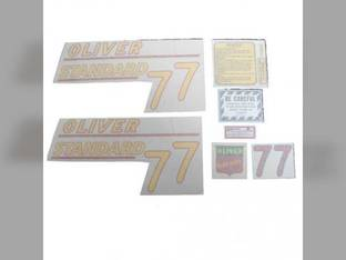Tractor Decal Set 77 Standard Yellow Vinyl Oliver 77