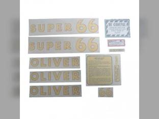 Tractor Decal Set Super 66 Vinyl Oliver Super 66